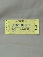 Vtg. Jimmy Buffett 1983 Paladium Charlotte, North Carolina July 17th Ticket Stub