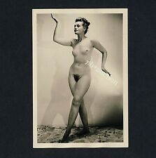 #257 RÖSSLER AKTFOTO / NUDE WOMAN STUDY * Vintage 1950s Studio Photo - no PC !