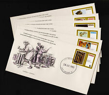 1980 Grenada International Council of Museums Set FDC Sc#995-1000 Unaddressed Si