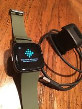 * Excellent * Fitbit Versa 2 Health & Fitness Smartwatch Olive Green Band