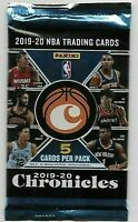 2019-20 NBA CHRONICLES UNOPENED PACK (5 CARDS) ZION, JA MORENT, ROOKIE LUKA