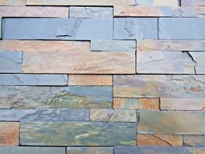 copper slate Splitface Tiles £33m2 drystack walling priced per m2