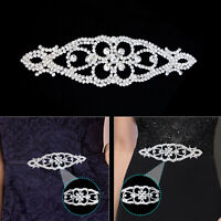 Diamante Rhinestones Silver Motif for Making Sash Belt Embellishment Dresses DIY