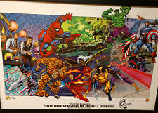 Dynamic Forces Stan Lee Presents 40th Ann. of Marvel Origins Litho Signed AP #1