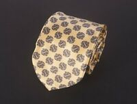 *** Dolcepunta Tie Yellow Blue Floral 100% Silk Made in Italy *C0121a2