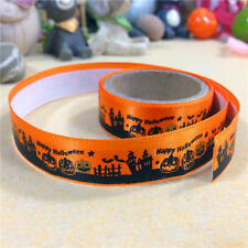 1m/Rolle Happy Halloween DIY Scrapbbok dekorative Klebebänder Dunkelorange 15mm