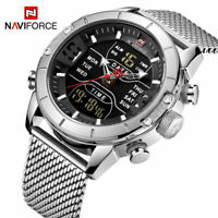 Stylish & Elegant Mens Chronopgraph with Dual Time, Alarm, Date - SHIPS from USA