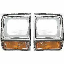 New Set OF 2 LH & RH Side Painted Head Lamp Door With Single H/L Fits D150 D250