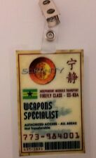 Serenity/Firefly ID Badge - Weapons Specialist cosplay costume prop