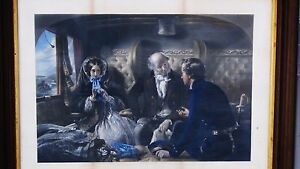 """ANTIQUE 19c HAND COLORED ENGRAVING TITLED""""THE RETURN(FIRST CLASS)""""W.H.SIMMONS #2"""