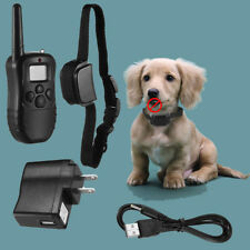 New listing Waterproof Shock Vibra Training Collar for Small Med Large Dog Remote 300 Yard U