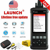 ABS SRS Airbag System Scan Tool OBDII Scanner Fault Code Reader  Launch CR619