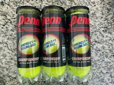 Penn Tennis Ball Championship Extra-Duty Felt Three Cans/9 Balls Sealed New