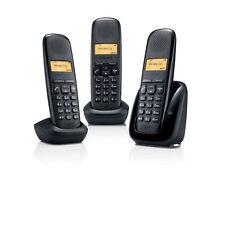 GIGASET 3 Telefoni Cordless A150 TRIO Display Illuminato Rubrica Chi è Dect NERO
