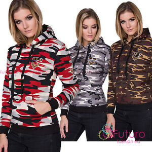 Ladies Military Army Hoodie Long Sleeve Hoody Pullover Sweatshirt FZ123