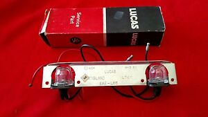 NOS Lucas L744 SAE L65 Twin Bulb Number Plate Lamp Base with Bulbs Austin Morris