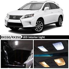 White Interior + License Plate LED Lights Package Kit for Lexus RX350 RX450H