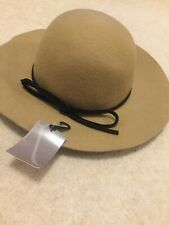 Ladies Flappy Hat Wool Beige Fashion Lovely