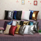 40cm Double Sequin Mermaid Bright Color Sofa Bed Auto Cushion Cover Pillow Case