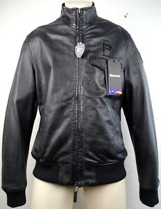 BLAUER USA Leather Jacket Lederjacke Bikerjacke Motorradjacke Gr.2XL NEU+ETIKETT