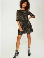 Reserved Floral Skater Dress Black UK 6 EU 34 LN097 EE 11