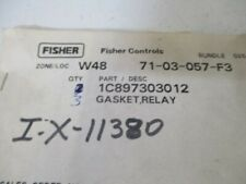 LOT OF 3 FISHER 1C897303012 RELAY GASKET *NEW IN A BAG*