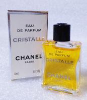 VINTAGE Mini Eau Parfum ✿ CHANEL CRISTALLE ✿ Eau Perfume Miniatur PARIS (4ml)