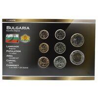 BULGARIA 8 COINS FULL SET: 1, 2, 5, 10, 20, 50 STOTINKI, 1, 2 LEVA 1999-2015 UNC