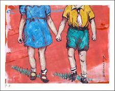 "DAVID BROMLEY ""Friendship"" Printers Proof Silkscreen PP 24cm x 30cm"