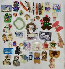 mixed lot of vintage refrigerator magnets and collectibles bears cats country