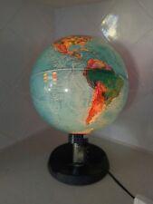 Vintage Danish mid-century modern MCM illuminated world globe lamp