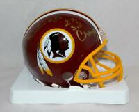 Clint Didier Autographed Redskins Mini Helmet W/ SB Champs- Jersey Source Auth