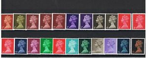 1967-70 SG723-744 Machin MNH/Used + booklet panes Discounts up to 30% for 4+