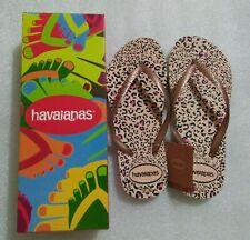 DressNStyle NWT Original HAVAIANAS Slippers Flip-Flops Tiger Print Size35 FE