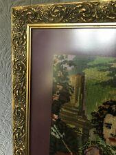 Beautiful Vintage Gold ANTIQUE/Art Nouveau Style Picture Frame-Glazed #5382