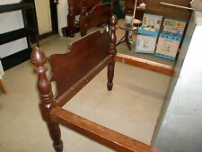 Antique Primitive Rope Poster Bed
