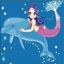 Diy Oil Painting, Paint By Number Kits For Kids Mermaid 20X30cm. Craft High Qual