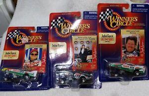 Winners Circle John Force Lifetime Series (3) Cars NIB 1998