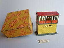 """Poste de gare """"Sémaphorique"""" JEP 58  en tole lithographie Année 1954"""