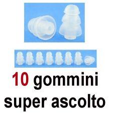 10 GOMMINI RICAMBIO AURICOLARE BLUETOOTH CUFFIE MUSICA RIDUTTORE SUPER ASCOLTO