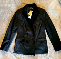 NWT Ralph Lauren Double Breasted Blazer Jacket with Velvet Trim Size 6P