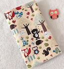 Handcrafted, Woodland Flannel & White Minky Bubble Baby Burp Cloth