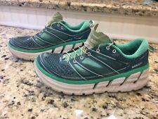 Hoka One One Women Conquest 2 Running Walking  Casual Shoe Aqua/White/Acid Sz 8