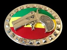 Jamaican Flag Belts Buckles Belt Buckle Gun Rastafarian Rasta