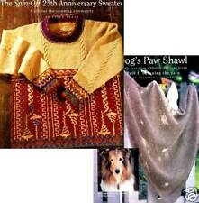 Spin-off magazine fall 2001: dog's paw shawl; silk vest