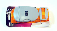 GO TRAVEL  Strap 'n Lock 491 Luggage Strap Combination Security Orange