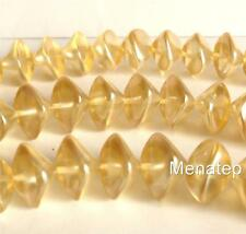 6(Six)  11x15mm Wonky Oval Beads: Pearl Coated - Moscato