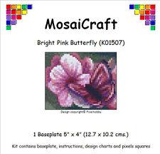 "Mosaicraft Pixel Art Mosaïque Kit ""rose vif papillon"" pixelhobby"