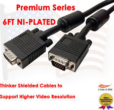 6FT Super Resolution Monitor HD15 Male/Male SVGA Video Cable For TV Computer