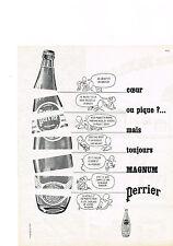 PUBLICITE ADVERTISING   1962   PERRIER  eau minérale